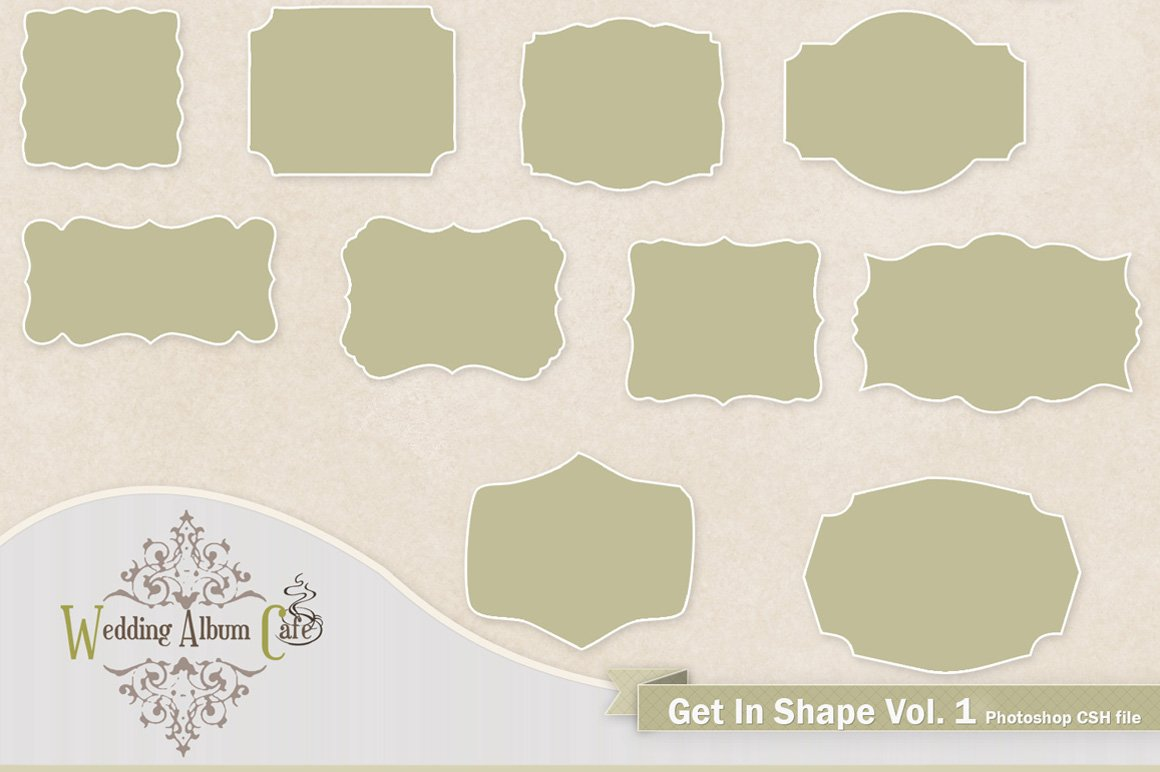 Get in shape custom photoshop shapes illustrations creative market jeuxipadfo Images