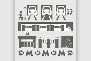 Metro underground symbols