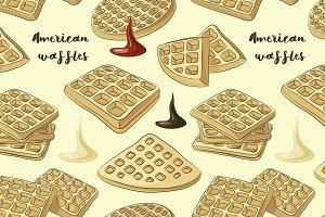 American waffles pattern