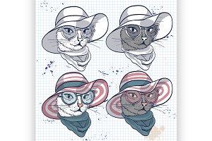 cat women face