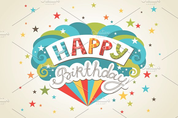 Happy birthday greeting cards Card Templates Creative Market – Happy Birthday Cards Templates