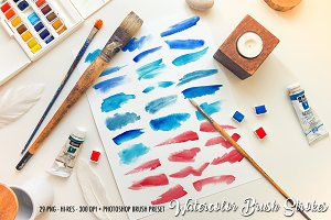 Watercolor Paint strokes BRUSH