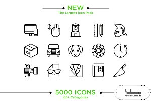 5000 iOS & Android Icons (Mobiliner)