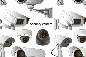 set of security camera pattern