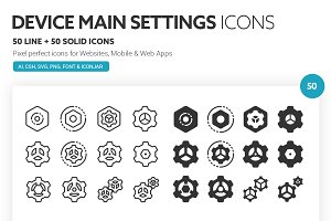 Device Main Settings Icons