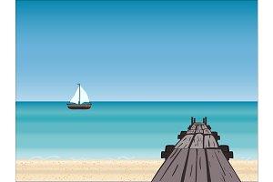 Navy pier yacht horizon