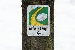 guidepost Eifelsteig - portrait