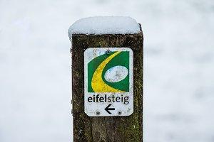 guidepost Eifelsteig - landscape