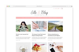 Elle & Blog - Wordpress blog theme