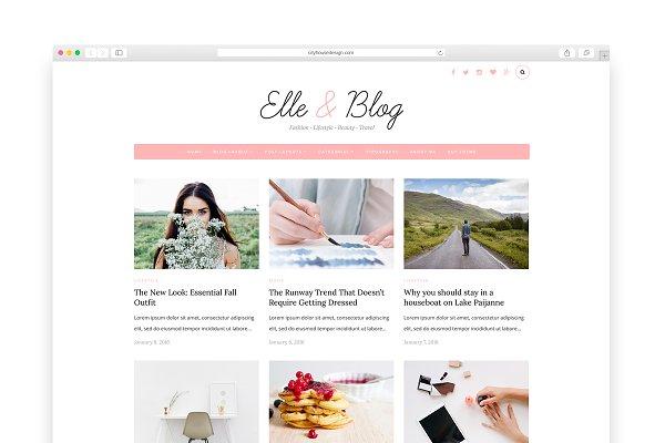 Elle & Blog - Wordpress blog theme