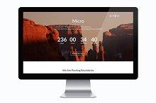 Micro Coming Soon Template