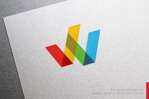 Color Letter W Logo