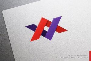 Color Letter X V Logo