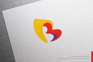 Color Letter B Logo