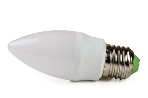 led lamp bulb isolated on white background
