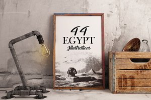 44 Egypt Illustrations