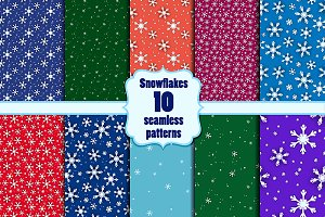 Snowflakes seamless set