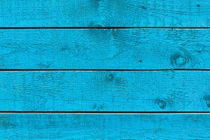 Planks painted in blue