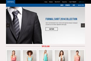 Shop'em All | Ecommerce PSD Template
