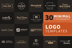 30 Minimal Typography Logo Templates
