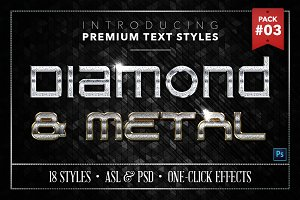 Diamond & Metal #3 - 18 Text Styles