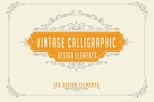 Calligraphic Design Elements Set 2