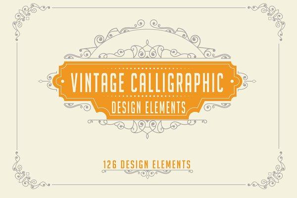 Calligraphic Design Elements Set 2