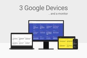 Minimal Google Device Vector Mockups