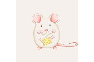 cute mouse cheese