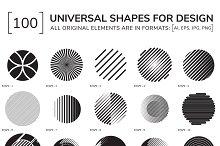 100 geometric shapes