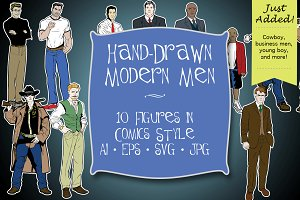 Hand Drawn Modern Men