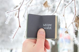 welcome winter creative concept