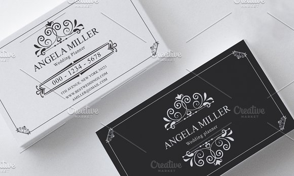 Elegant vintage business card business card templates creative elegant vintage business card business card templates creative market wajeb Images
