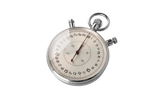 Chrome stopwatch at start position