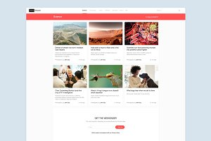 News Web Site Template Sketch 3
