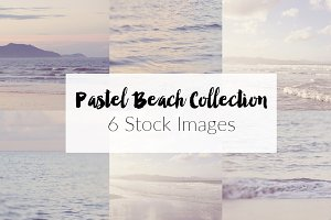 Pastel Beach ~ 6 Stock Photographs