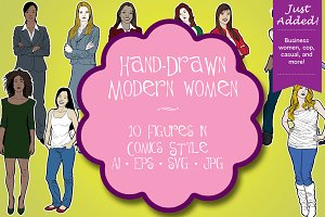 Hand Drawn Modern Women