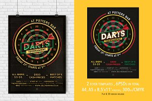 2 Darts Mag. Ad, Poster or Flyer