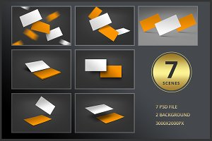7 Business Card Mockup