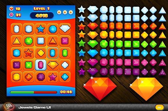 Jewel Game UI