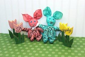 Easter-Spring-Bandana Bunnies