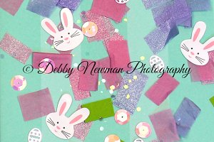 Spring/Easter Confetti with Bunnies