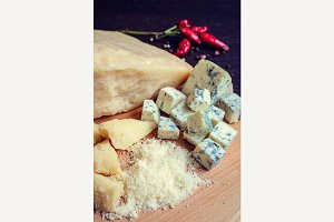 Parmesan and Blue Cheese