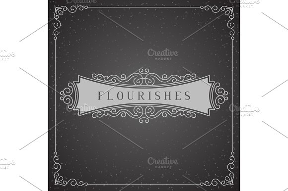 Royal Logo Design Template Vector Decoration, Flourishes Calligraphic Elegant Ornament Frame Lines. Good for Luxury