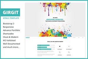 GirGit – Responsive HTML5 Template