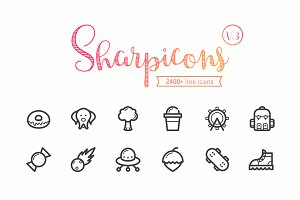 Sharpicons - 2400 Line Vector Icons