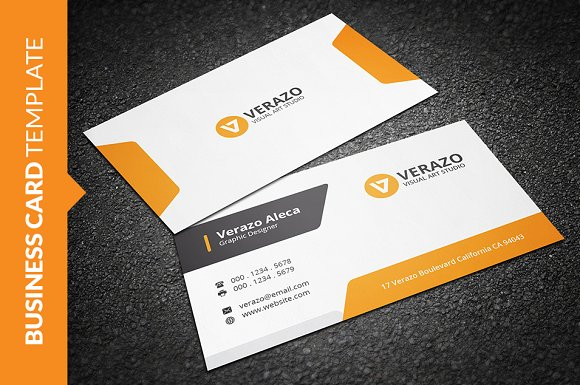 Clean stylish business card business card templates creative clean stylish business card business cards reheart Images
