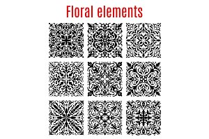 Floral borders and ornate vector elements