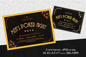 2 Poker Mag. Ad, Poster or Flyer