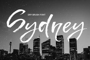 Sydney - dry brush font